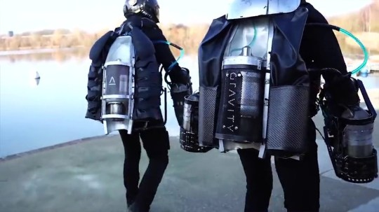 "A British company has been awarded what it claims is the world's first patent for a ""jet suit"". Gravity Industries' multi-gas turbine engine Jet Suit has been granted the right as the inventor of an apparatus enabling an individual to fly. Company founder Richard Browning has previously demonstrated the suit in more than 20 countries around the world and earned a Guinness World Record in 2017 for ""the fastest speed in a body-controlled jet engine power suit"". He said the firm now hoped to launch a racing series based on teams using the suit to navigate courses. ""Since launching Gravity in 2017, we have not stopped challenging the status quo,"" he said. ""Restlessly pioneering developments in STEM, today's patent issuance is a giant milestone for Gravity which will enable us to continue to innovate and hopefully inspire others. ""Our current priority is the launch of a Gravity Race Series in late 2019, which will see a new cohort of diverse pilots putting their flight skills to the test, competing in teams on courses around the world."" The patent, issued by the UK's Intellectual Property Office, covers: ""A wearable flight system with a number of propulsion assemblies including a left-hand propulsion assembly and a right-hand propulsion assembly worn on a user's hands and/or forearm. ""Preferably a body propulsion assembly is provided with support for a user's waist or torso. Leg propulsion systems may also be provided."" In documents that formed part of the patent claim, the company cited Marvel Studios' Iron Man character and his use of a wearable flight system which utilises propulsion units worn on the hands. The Jet Suit uses five gas turbines which collectively produce over 1,000 brake horsepower to gain flight, and can reach speeds of over 55mph. The firm said it was already in ""advanced discussions"" with possible host cities, broadcasters and sponsors over launching its race series in the second half of 2019."