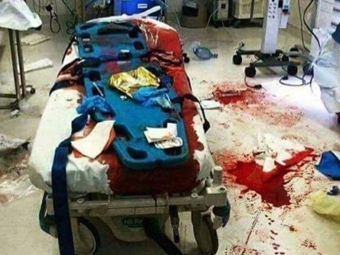 Hospital bed soaked in blood lays bare shocking reality of knife crime