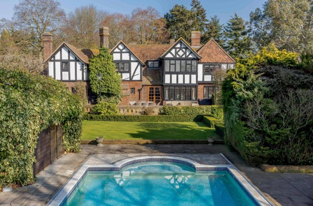 BNPS.co.uk (01202 558833)?Pic: Strutt&Parker/BNPS Never worry about last orders again... The heated swimming pool on the grounds of the property. A pretty country home that comes complete with its own private pub is on the market for ?2.2m. The elegant Arts & Crafts property in a picturesque hamlet near Chelmsford, Essex, is the perfect house for entertaining with a swimming pool, all weather tennis court, stables and almost six acres of land. And those who love a tipple would not have to worry about stumbling home from a night of sinking pints and playing pool as the detached games room, complete with an impressive bar, is just 100 yards from the main house.