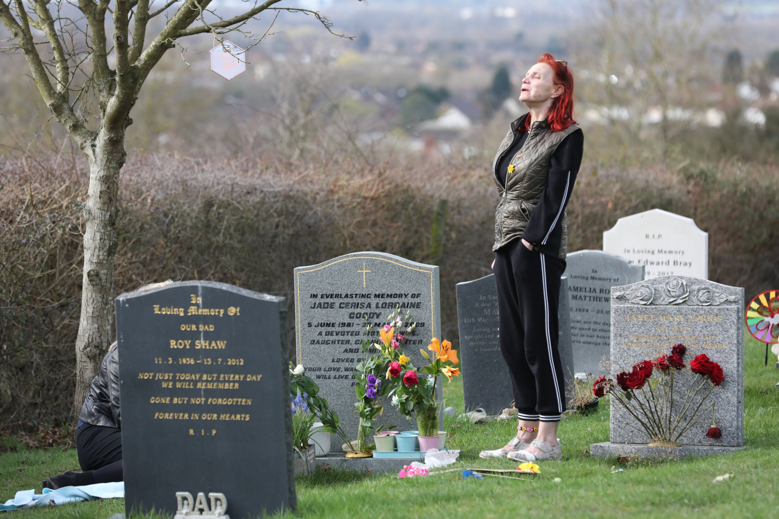 EXCLUSIVE: * EMBARGO: Strictly No Web / Online Permitted Before 11pm March 18th 2019 * Fee For Online After 11pm 300 GBP For Set * * Min Print Fee 300 GBP PP * Larger Usages To be Agreed *Double Pg 1 * Jackiey Budden visits daughter Jade's grave in Upshire, Essex The 22nd March 2019 will be the 10th anniversary of Jade's death. Pictured: Jackiey Budden Ref: SPL5069839 050319 EXCLUSIVE Picture by: SplashNews.com * EMBARGO: Strictly No Web / Online Permitted Before 11pm March 18th 2019 * Fee For Online After 11pm 300 GBP For Set * * Min Print Fee 300 GBP PP * Larger Usages To be Agreed *Double Pg 1 * Splash News and Pictures Los Angeles: 310-821-2666 New York: 212-619-2666 London: 0207 644 7656 Milan: 02 4399 8577 photodesk@splashnews.com World Rights