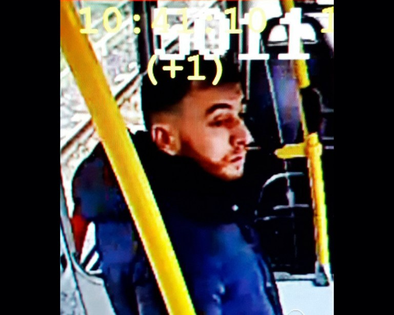CAPTION CORRECTS THE NAME - This image made available on Monday March 18, 2019 from the Twitter page of Police Utrecht shows an image of 37 year old Gokmen Tanis, who police are looking for in connection with a shooting incident on a tram. Police, including heavily armed officers, flooded the area after the shooting Monday morning on a tram at a busy traffic intersection in a residential neighborhood. (Police Utrecht via AP)