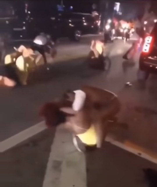 Shocking video shows a group of bikini-clad women having a HUGE fight in Miami during Spring Break South beach miami girl fight 2019