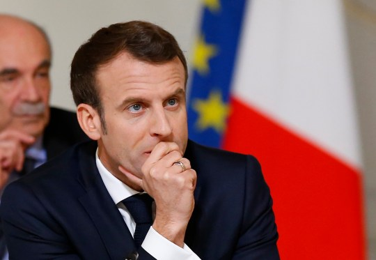 epa07447302 French President Emmanuel Macron attends a debate with intellectuals at the Elysee Palace in Paris, France, 18 March 2019. EPA/MICHEL EULER / POOL MAXPPP OUT