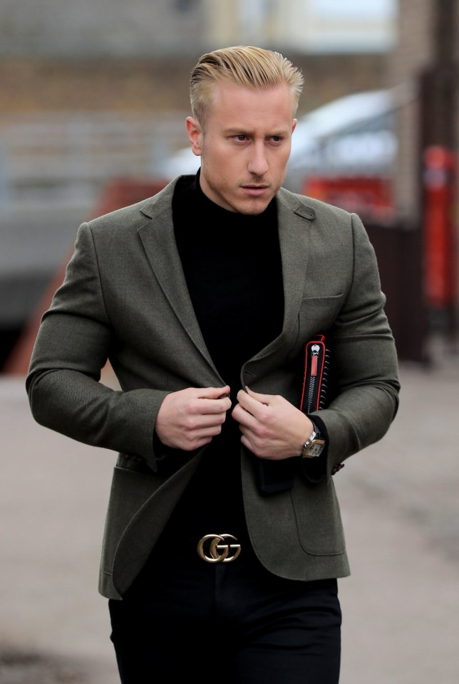 Kris Boyson, boyfriend of Katie Price, arrives at Medway Magistrates' Court in Chatham, Kent, where he is charged with the use of threatening, abusive and insulting words and behaviour with intent to cause fear or provoke unlawful violence. PRESS ASSOCIATION Photo. Picture date: Tuesday March 19, 2019. See PA story COURTS Boyson. Photo credit should read: Gareth Fuller/PA Wire