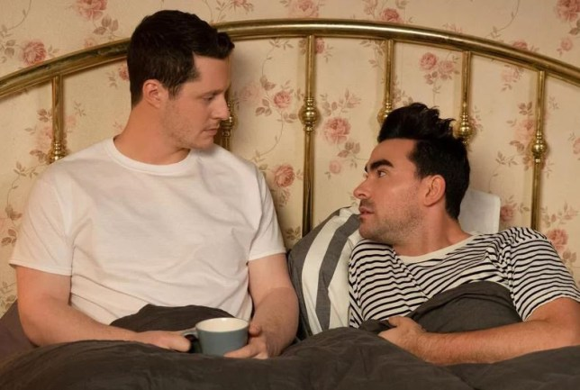 Dan Levy on Patrick's coming out story on Schitt's Creek Provider: PopTV Source: https://ew.com/tv/2019/03/20/schitts-creek-dan-levy-interview-david-pansexual-patrick-coming-out/