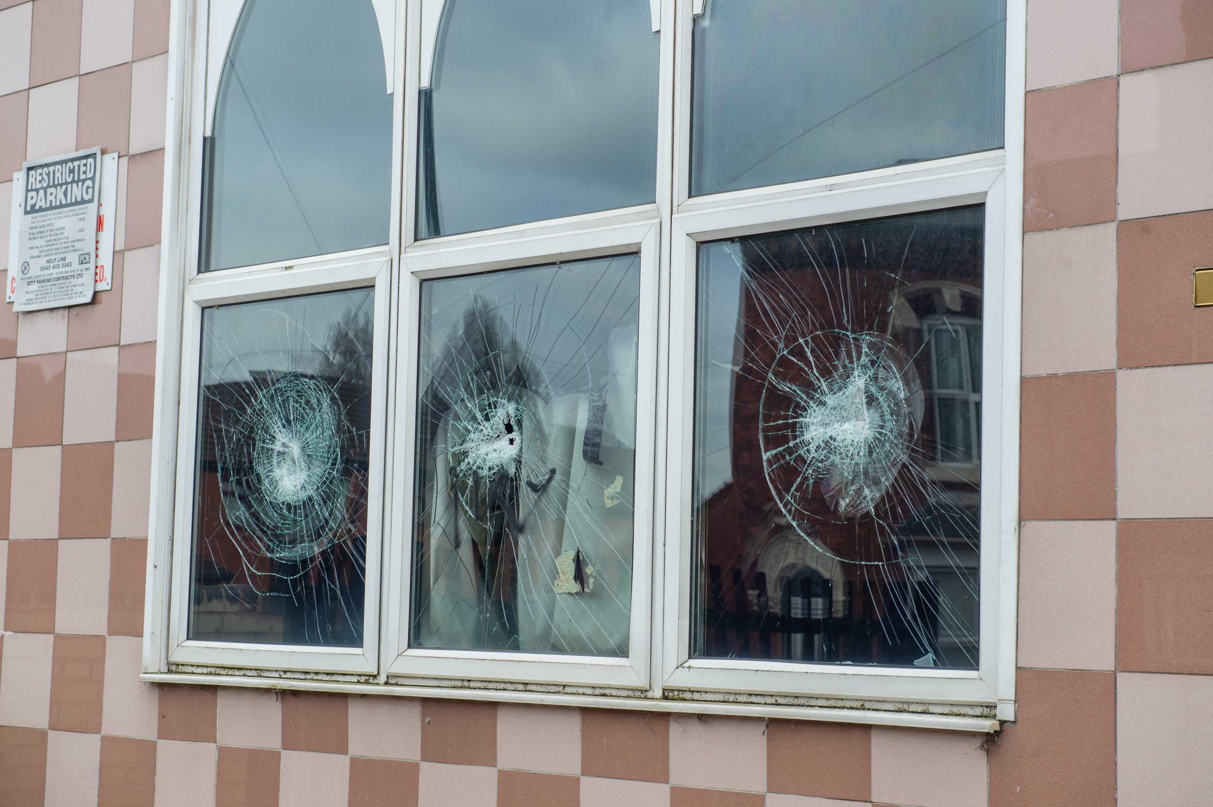 GV of Mosque and Muslim Community Centre Aston on Albert Road, which was one of four mosques attacked with a sledghammer last night, Birmingham. March 21, 2019. Counter terrorism police have launched a probe after several mosques in Birmingham had their windows smashed in with sledgehammers overnight. See SWNS story SWMDmosques. Vandals struck at four different Islamic places of worship in the city across the city in the early hours of today (Thurs). Detectives say they are unsure of the motive behind the rampage but West Midlands Counter Terrorism Unit is also investigating in the wake of the Christchurch massacre. Members of the Birmingham Muslim community had already spoken of their fears following the New Zealand terror attack which left 50 people dead.