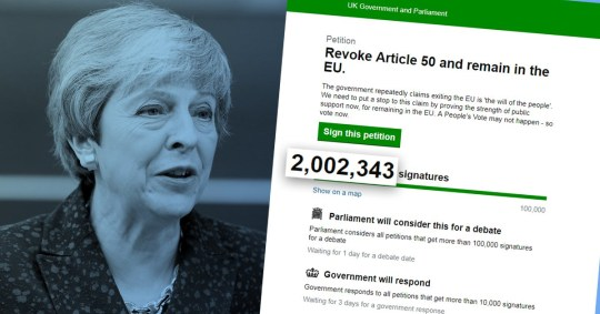 Theresa May will not revoking Article 50 despite petition reaching 2,00,000 signatures
