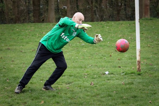 Britain?s ?oldest goalkeeper? Colin Lee, 79, from Northampton, who still plays in goal for his beloved Thorplands Club 81 where he has been involved since the club formed in 1981. See SWNS story SWMDkeeper. A 79-year-old who still plays football is officially Britain?s oldest goalkeeper. Colin Lee started playing football when he was just six years old and has now been regularly partaking in the beautiful game for an incredible 73 years. Mr Lee, who supports Wolverhampton Wanderers, said: 'I?ve been told you have to be mad to be a goalie, so I guess I must be bordering on that as I?ve done it for so long. 'I like chucking myself around the goal like a lunatic. Mr Lee began kicking a ball in the playground when he was six and joined his school team four years later. He has since played for six teams, initially as a centre half and for the last five decades as a goalkeeper.