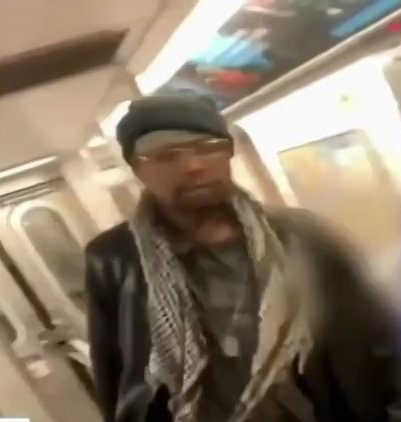 Train passenger kicks elderly woman's face until she bleeds Picture: WABC-TV/ abc7 METROGRAB
