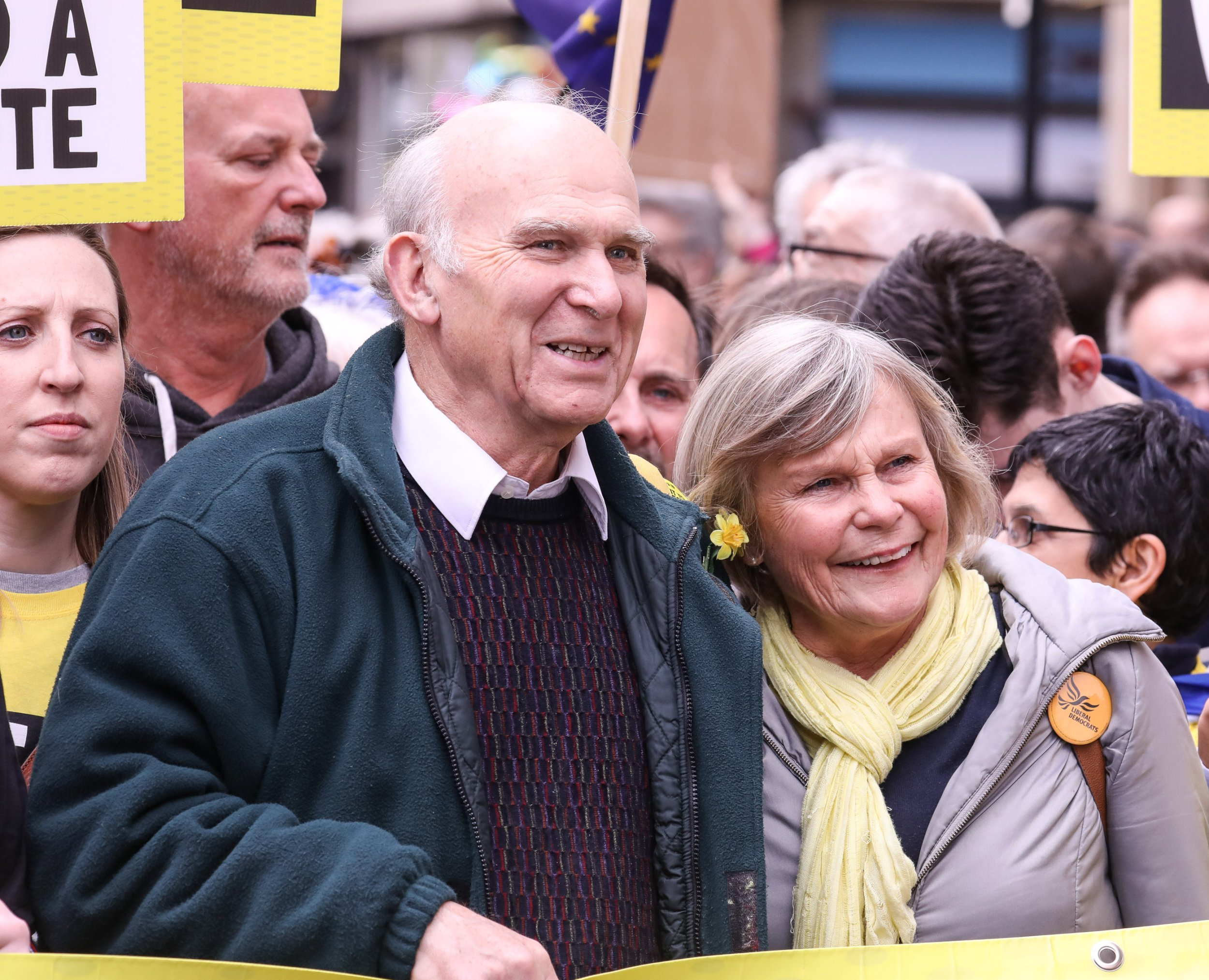 Vince Cable on a People's Vote march