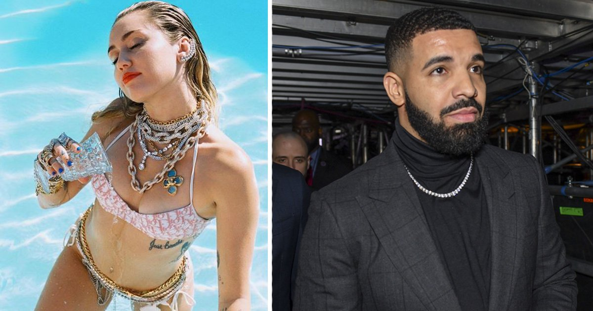 Miley Cyrus teases Drake collaboration as she 'drenches herself with his tears' in bikini snap