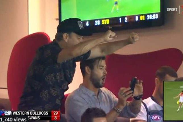 Chris Hemsworth and Matt Damon are ultimate bros as they go wild at AFL