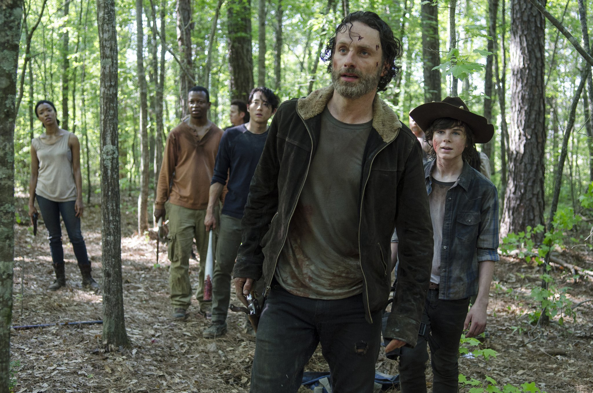 The cast of The Walking Dead