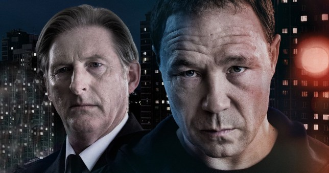 Ted Hastings and John Corbett in Line of Duty