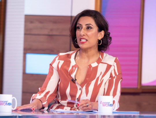 Editorial use only Mandatory Credit: Photo by S Meddle/ITV/REX/Shutterstock (10168091av) Saira Khan 'Loose Women' TV show, London, UK - 26 Mar 2019
