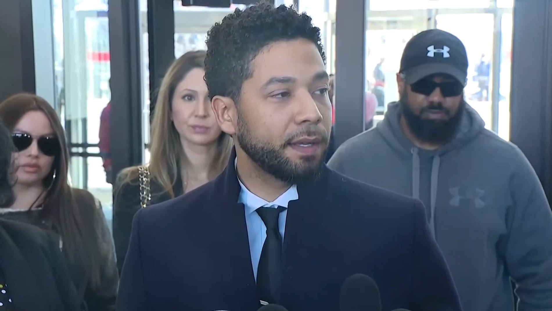 Jussie Smollett outside court 26.03.2019 after all charges dropped