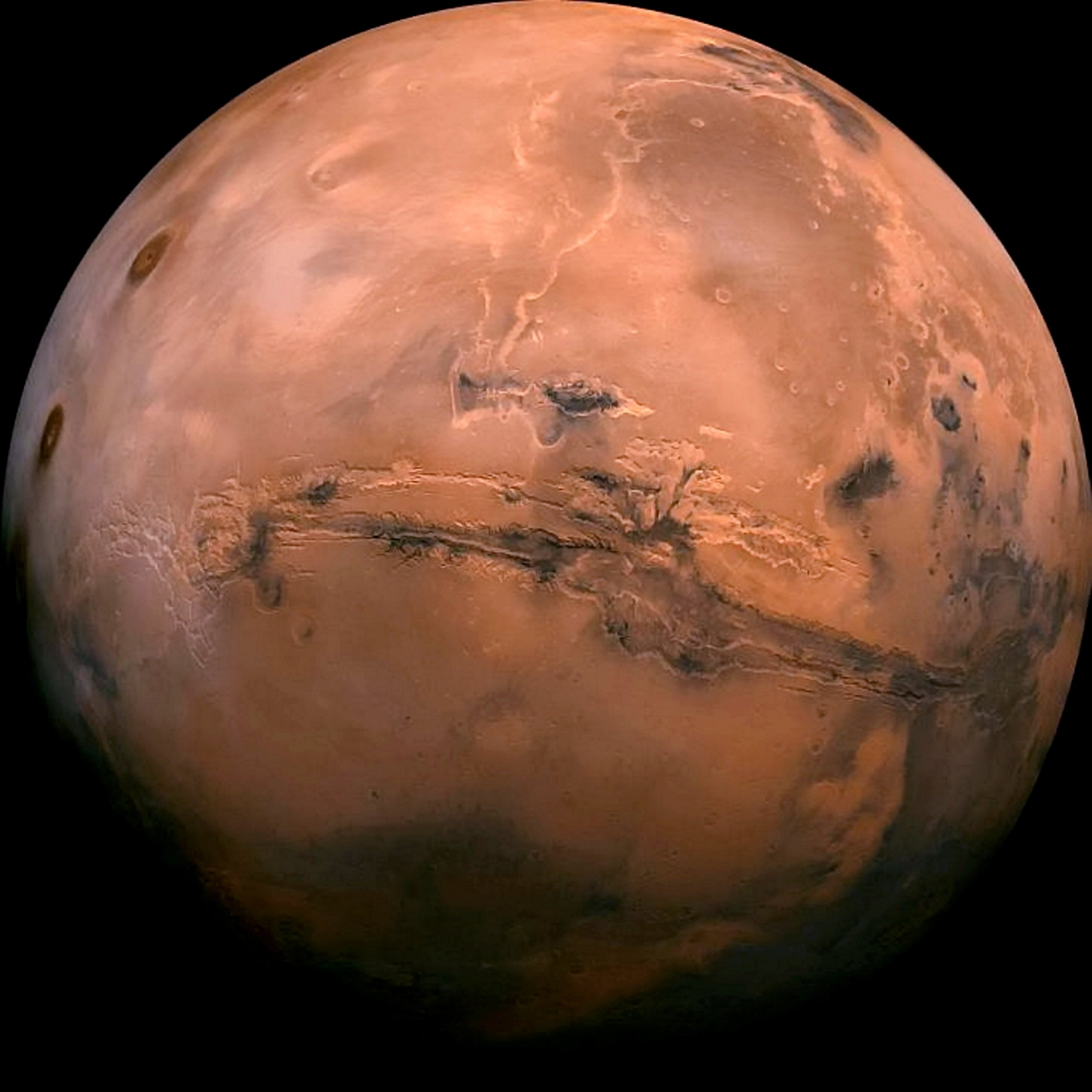 Embargo 18:00 GMT (27-MAR-2019 14:00 ET). The planet Mars. Rivers on Mars wider than any of Earth today and may have flown more than scientists previously thought. See NATIONAL story NNMARS. Scientists have long been puzzled as to why ancient Mars had liquid water because it had an extremely thin atmosphere both today and early on in the planet's history. March also only received a third of the sunlight that present-day Earth does, which should not be enough heat to maintain water. Now dry, Mars' water once carved out deep riverbeds. The new study suggests the long-dead rivers could have been affected by climate-driven rains and a strong greenhouse effect. Its findings suggest it rained on Mars as well as the planet was losing atmosphere and drying out one billion years ago. The team at the University of Chicago concludes Mars rivers were about two times more than those on Earth and there is evidence of intense surface run-off between 3.6 and one billion years ago.