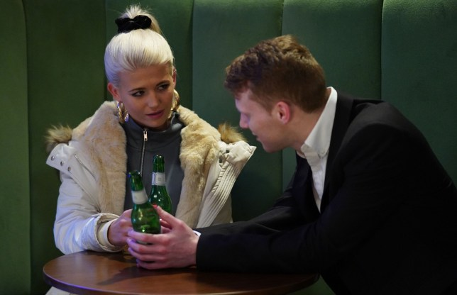Lola Pearce and Jay Brown in EastEnders