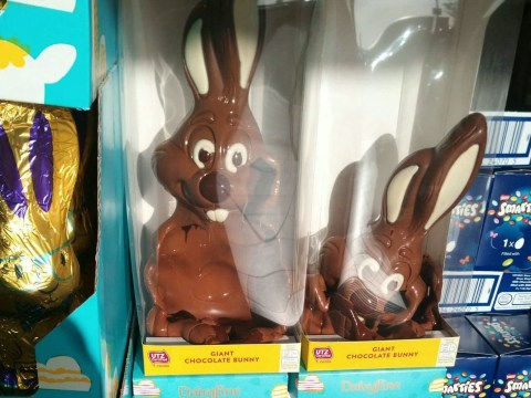 Melted Easter bunnies create 'horror show' display at Aldi