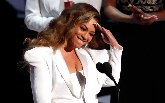 50th NAACP Image Awards - Show - Los Angeles, California, U.S., March 30, 2019 - Beyonce reacts after winning the entertainer of the year award. REUTERS/Mario Anzuoni