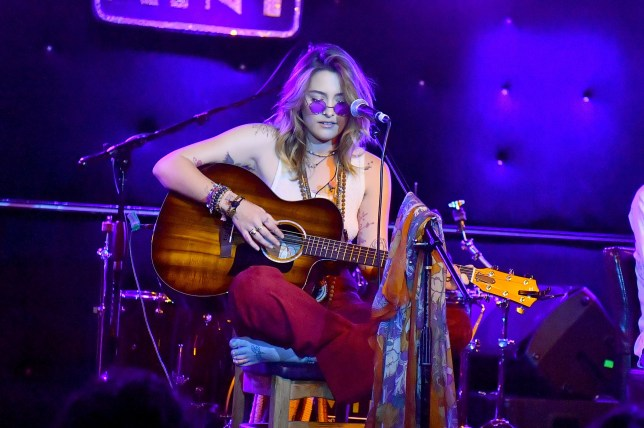 Paris Jackson performs with her boyfriend at a very intimate venue in Los Angeles