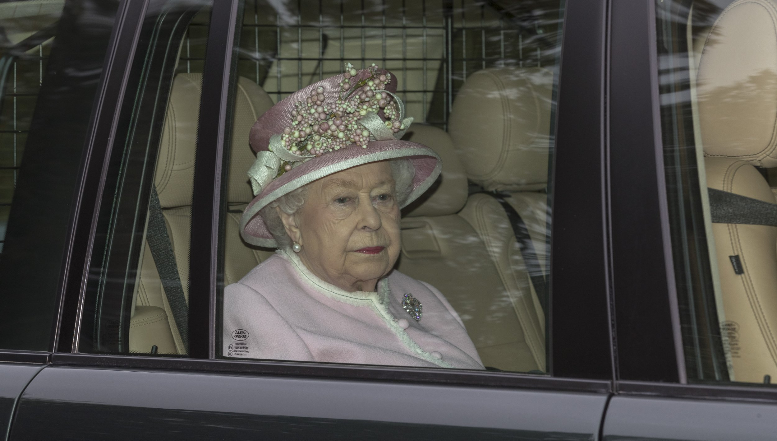 Notice Please Read Rights Usage Terms; Pic Shows;The Queen is Driven to church service at the Royal Chapel today 31/3/19 in Windsor Great Park After she has decided not to Drive any more On Public Roads. These Pictures are for use on Printed Media or That company,s Website.No Social media use.Without Prior Consent from the Copyright Owner.Please see Rights Usage Terms.