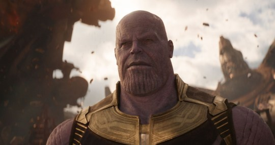 "Editorial use only. No book cover usage. Mandatory Credit: Photo by Marvel/Disney/Kobal/REX/Shutterstock (9641147ax) Thanos (Josh Brolin) ""Marvel's Avengers: Infinity War"" Film - 2018"