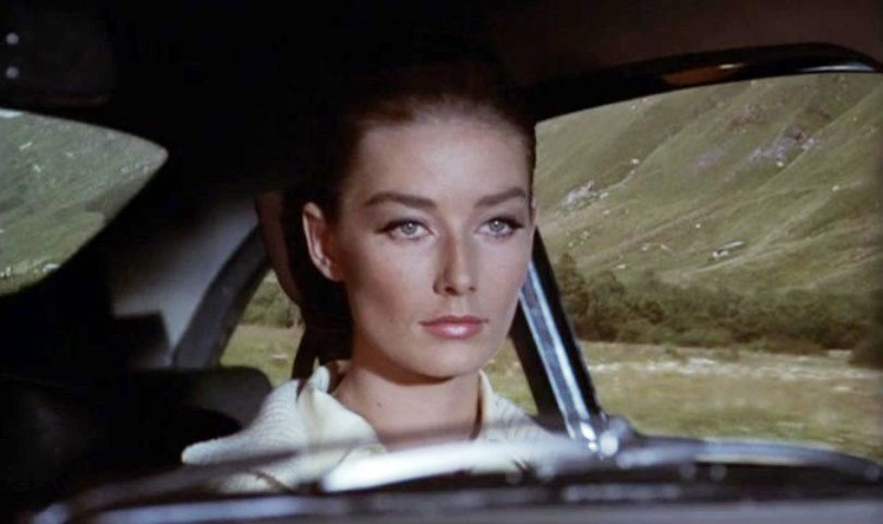 Actress Tania Mallet in James Bond movie Goldfinger