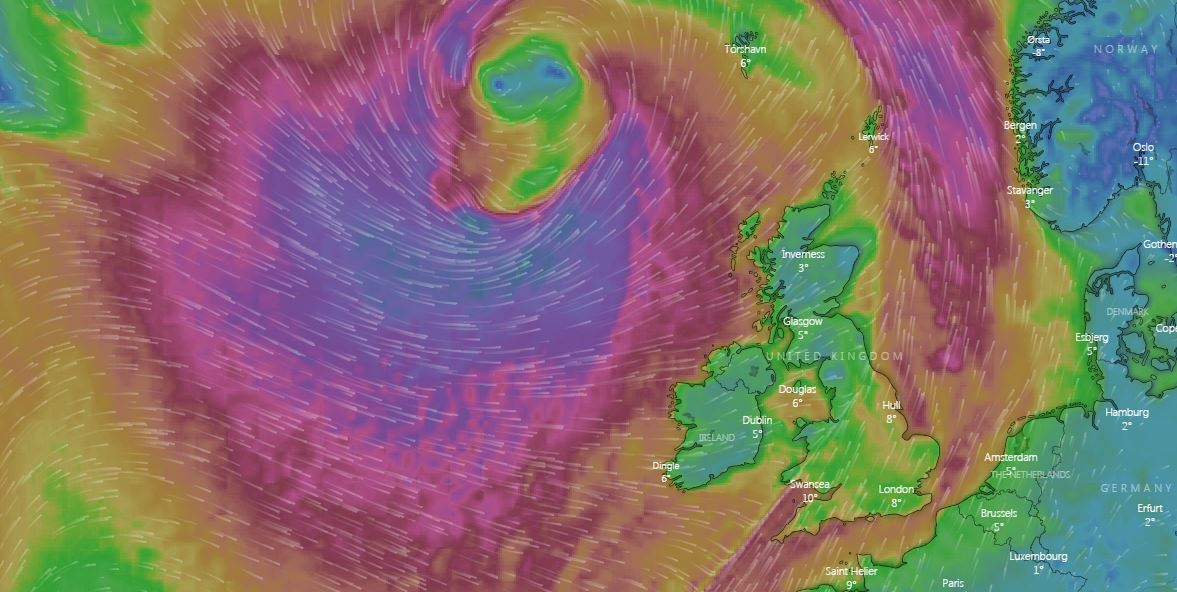 Met Office forecast Storm Gareth will batter Britain with 80mph wind