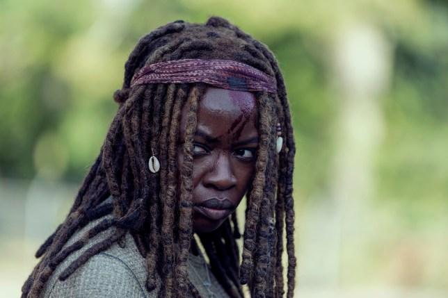 Danai Gurira as Michonnein The Walking Dead