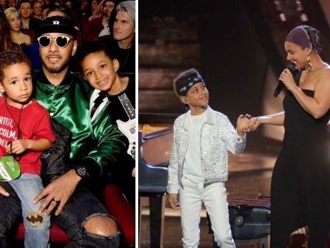 Alicia Keys' adorable sons steal show at iHeartRadio Awards with performance and front row appearance