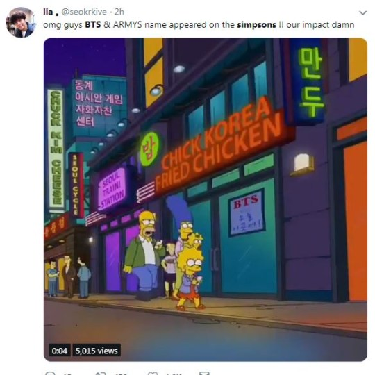 BTS and ARMY posters appear in The Simpsons episode E My