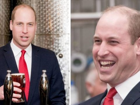 Prince William says he 'shan't neck the whole lot' after pulling a cold one