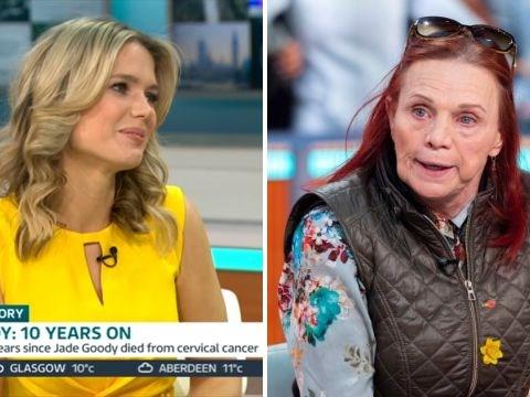 Awkward moment Jade Goody's mum Jackiey Budden asks Charlotte Hawkins 'Who are you?'