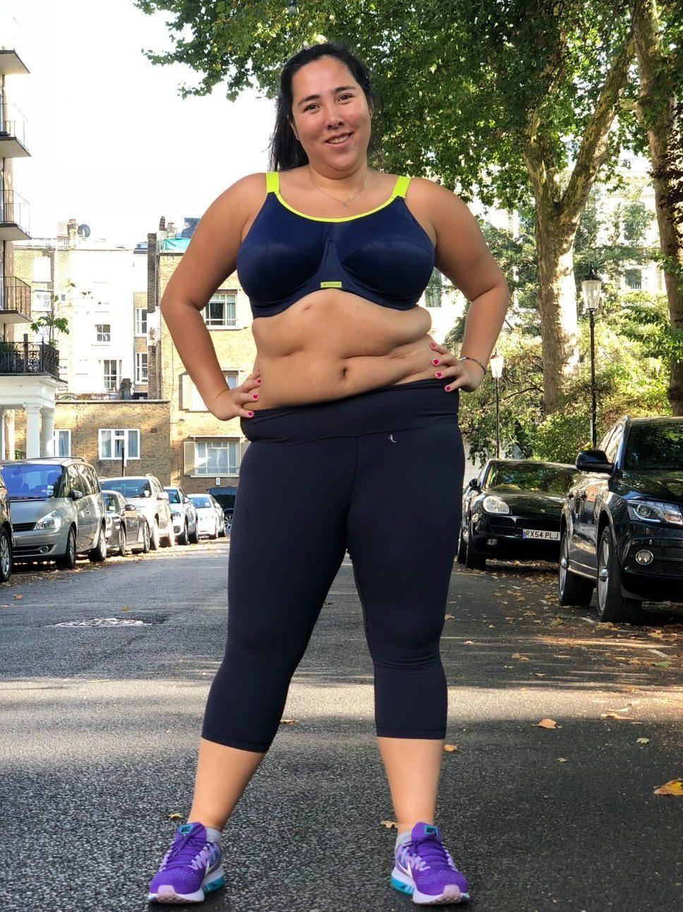 Michelle Elman poses in sports gear