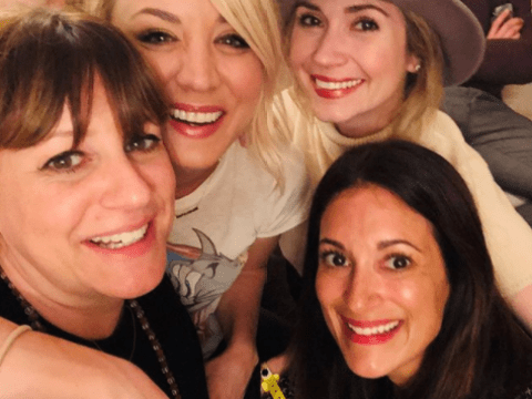 The  Big Bang Theory's Kaley Cuoco poses with Life In Pieces star behind-the-scenes, but what does it mean?