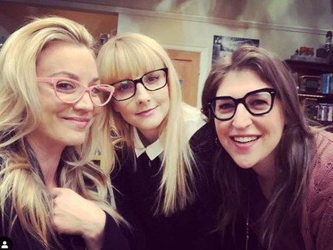Kaley Cuoco turns the tables behind-the-scenes on her male The Big Bang Theory co-stars with Mayim Bialik and Melissa Rauch