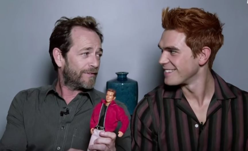 Luke Perry shares father/son joke over 90210 doll with Riverdale's KJ Apa in one of star's final ever interviews