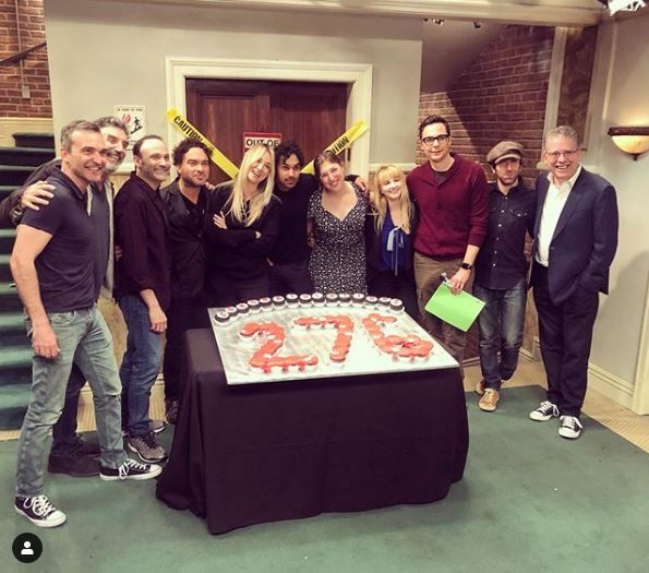 The Big Bang Theory cast celebrate show becoming longest-running US sitcom