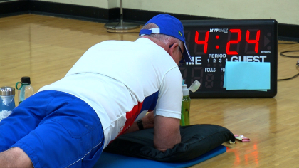 Cancer sufferer, 71, planks for record-breaking 38 minutes