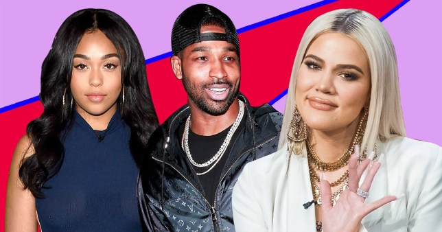 Jordyn Woods, Tristan Thompson and Khloe Kardashian