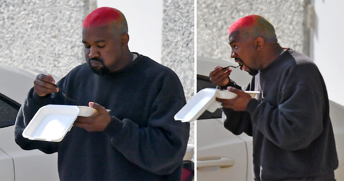 Kanye West indulges in snacks as he heads off to movie theatre for a well-earned break