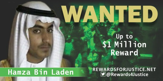 METRO GRAB - @Rewards4Justice Twitter The US offers $1,000,000 for help tracking Bin Laden's son https://twitter.com/Rewards4Justice Picture: @Rewards4Justice