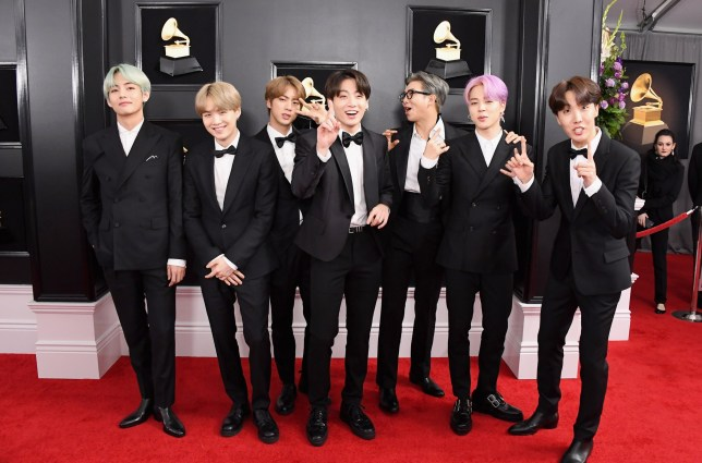 LOS ANGELES, CA - FEBRUARY 10: South Korean boy band BTS attends the 61st Annual GRAMMY Awards at Staples Center on February 10, 2019 in Los Angeles, California. (Photo by Steve Granitz/WireImage)