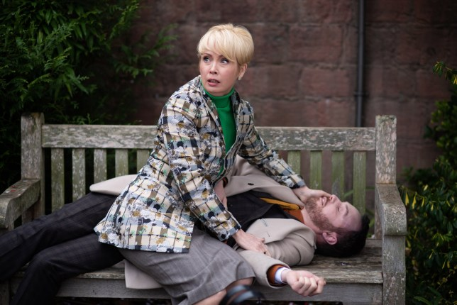 MARNIE AND HARRY FIND JAMES LIFELESS IN THE VILLAGE EMBARGOED UNTIL 12 MARCH