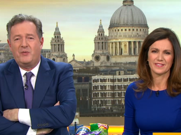 Piers Morgan declares war with Susanna Reid as they go head-to-head for Soccer Aid