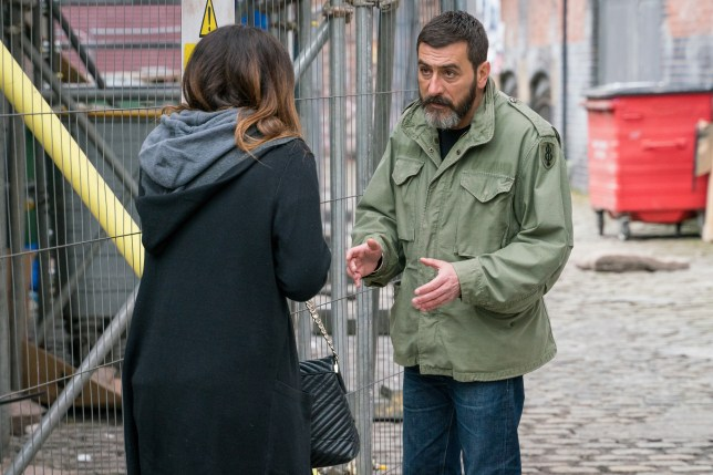 Peter tries to help Carla in Coronation Street