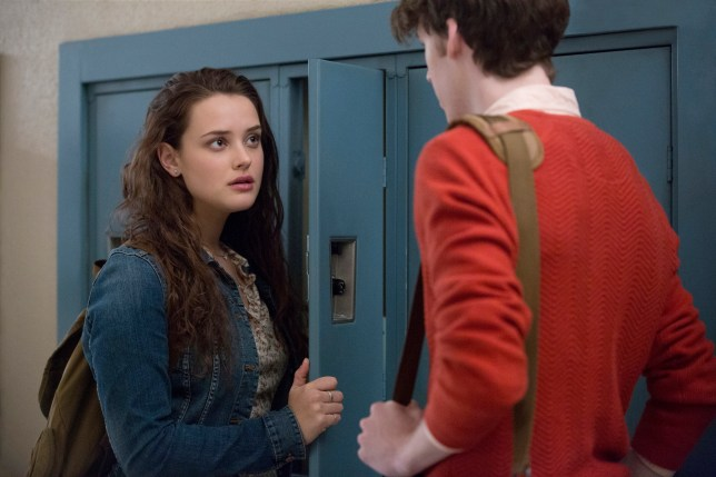 Katherine Langford and Dylan Minette in 13 Reasons Why
