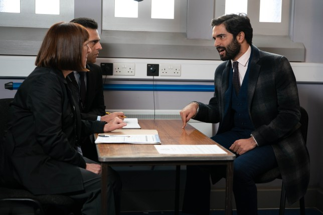 Imran is quizzed by police in Coronation Street