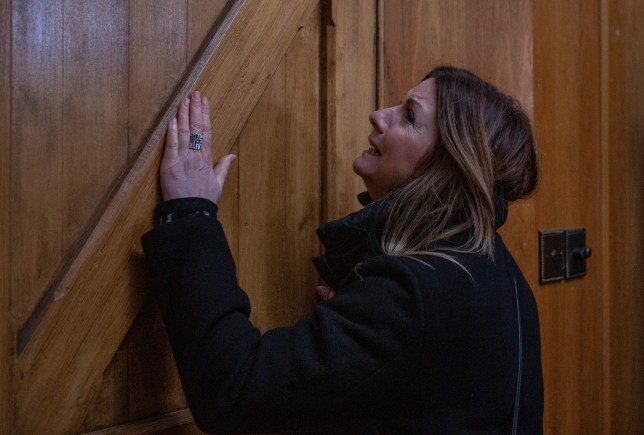 Harriet is trapped by her stalker in Emmerdale